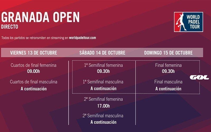 Conoce los horarios del streaming del Granada Open