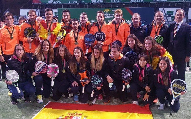 España triunfa en las finales del Campeonato de Europa de Pádel