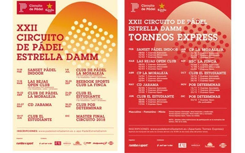 El Circuito de Pádel Estrella Damm comenzará en breve su XXII edición
