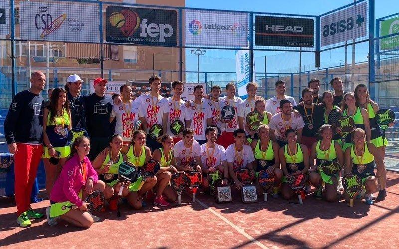 Club Deportivo Básico de Pádel Damm consigue el doblete en el XXXV Campeonato de España por Equipos de 1a categoría