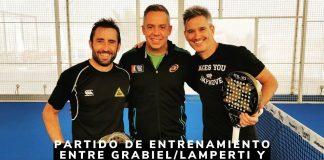 Lamperti y Grabiel entrenando con Sanyo y Maxi Sánchez
