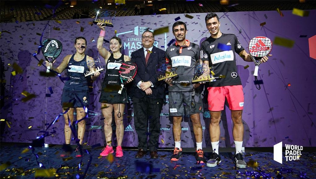 Ale Galán - Pablo Lima y Ale Salazar - Ariana Sánchez ganaron las finales del Master Final