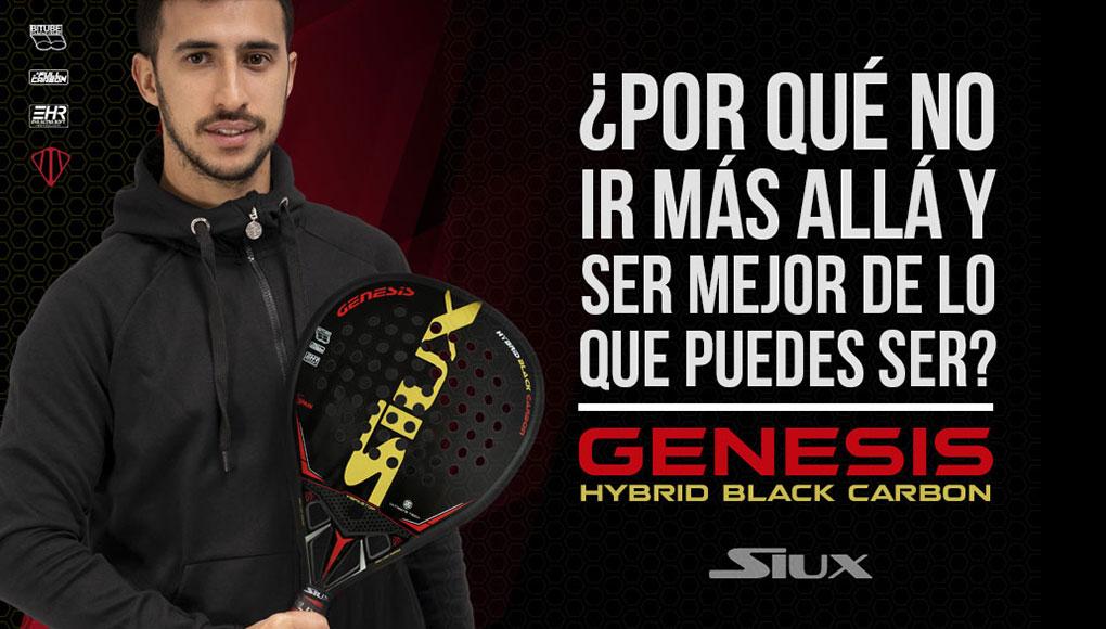 Siux presenta la Siux Genesis Hybrid Black, la pala de Álvaro Cepero