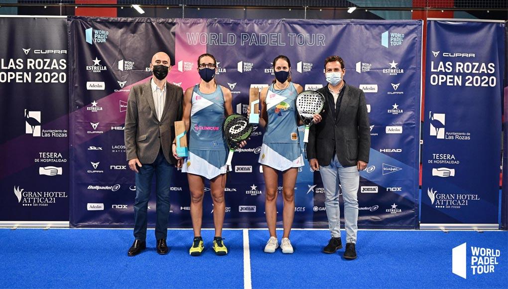 Gemma Triay y Lucía Sainz celebran su número 1 ganando Las Rozas Open