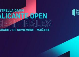 Sigue desde las 10:00 el streaming de las semifinales del Alicante Open