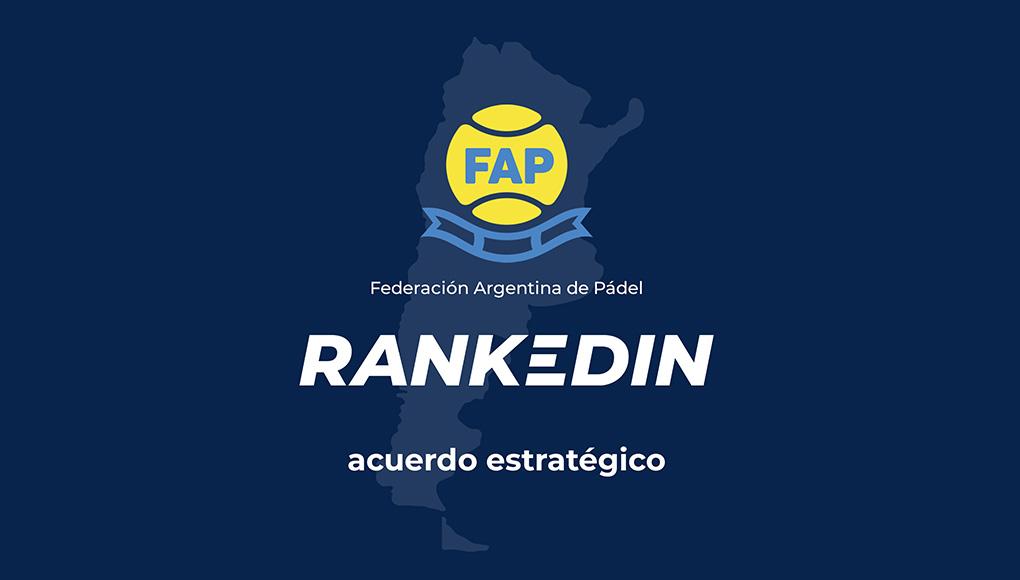 La Federación Argentina de Pádel elige a RankedIn como el software oficial