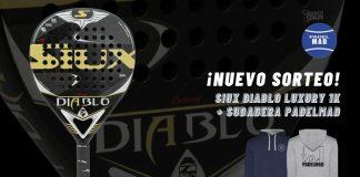 Participa en el sorteo de una Siux Diablo Luxury 1K y una sudadera PadelMad
