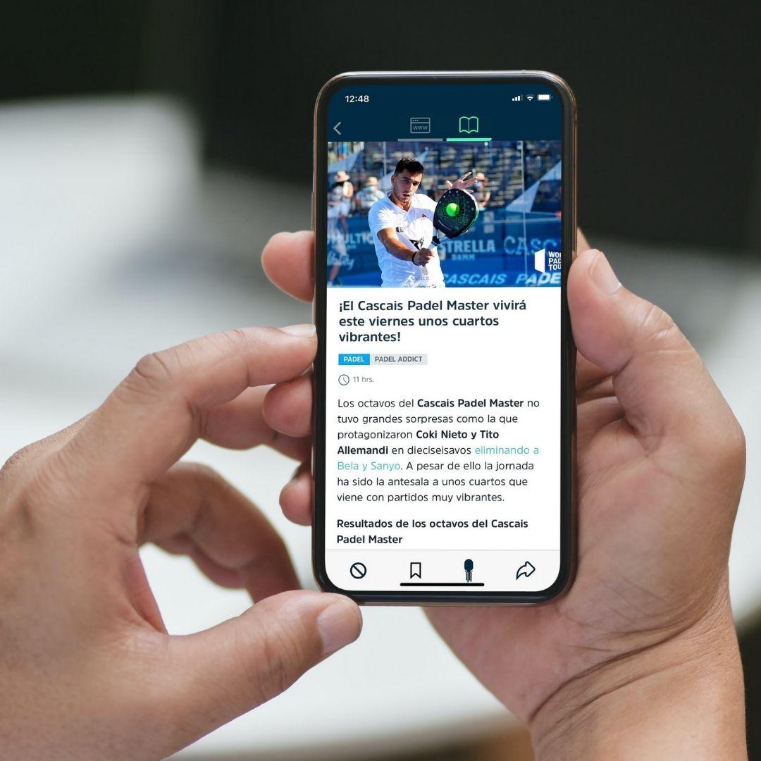 Padel Addict ahora también está disponible en la plataforma SQUID App