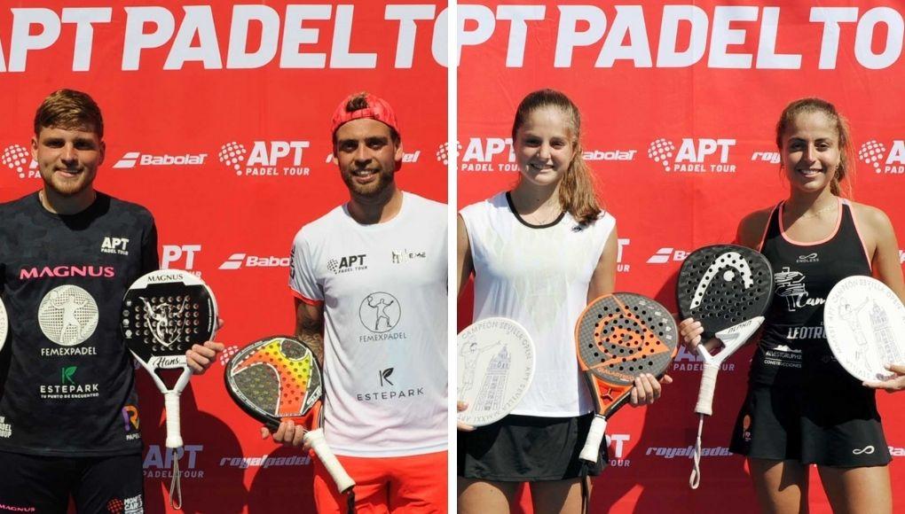 Chiostri - Alfonso y Borrero - Herrada, ganadores del Sevilla Open del APT Padel Tour