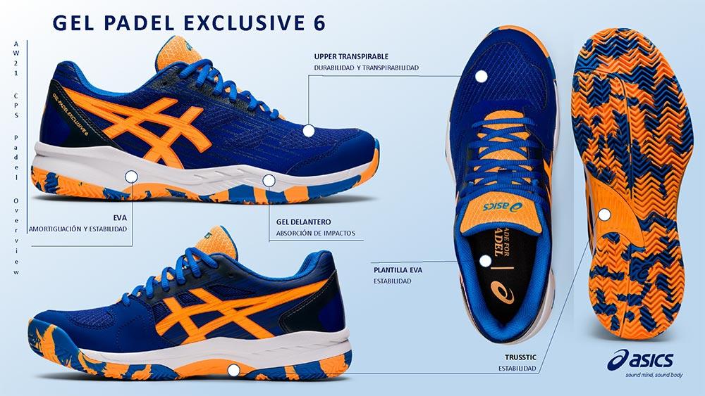 Resumen de las zapatillas Gel Padel Exclusive 6