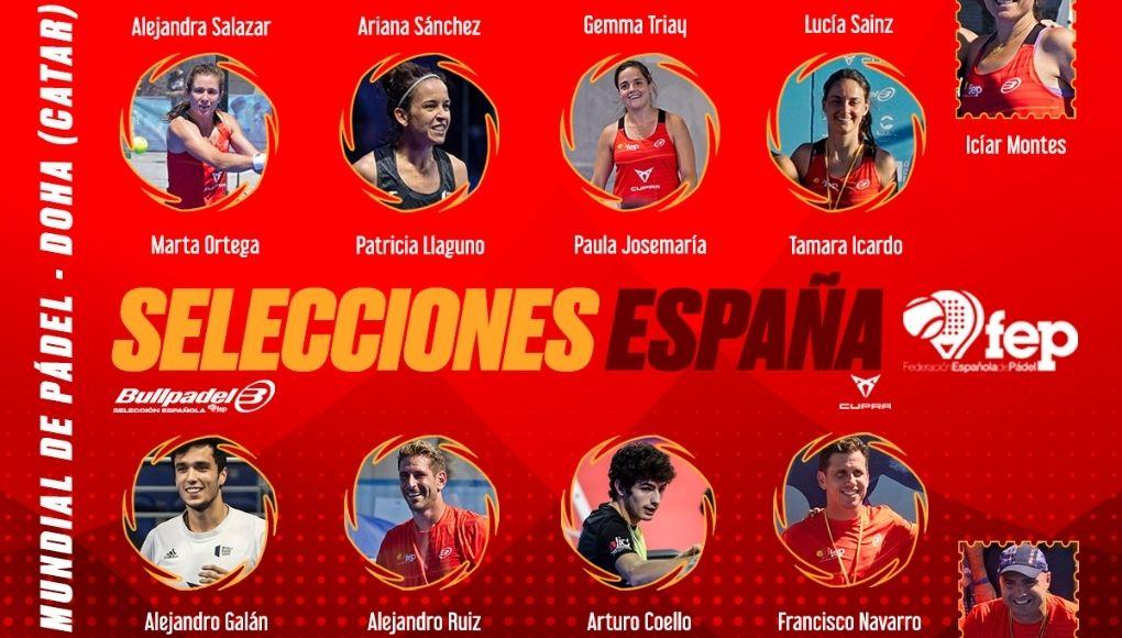 España ya tiene a sus jugadores seleccionados para el Mundial de Pádel de Doha